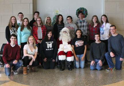 Santa visits Central Campus