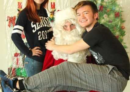Santa stops by MCHS