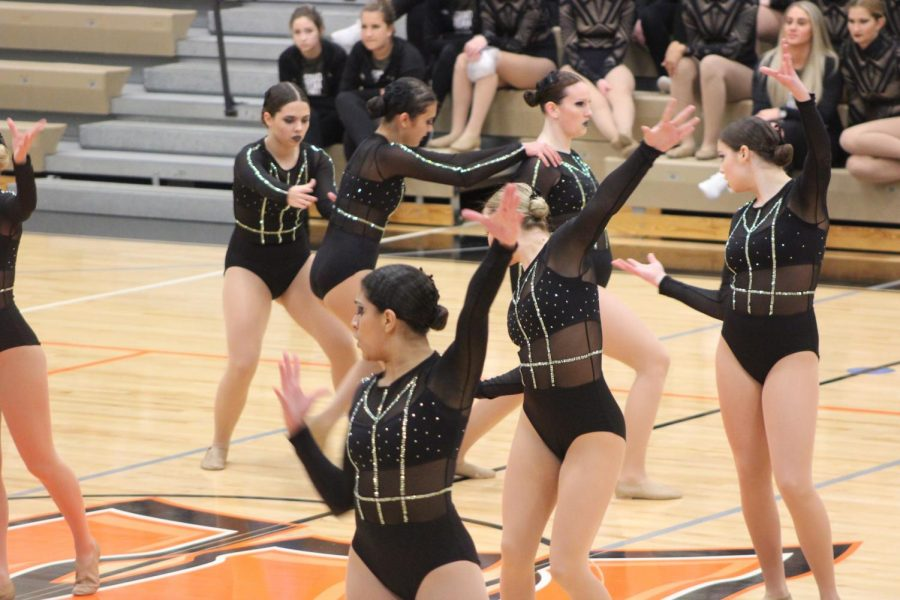 The Arrowettes perform at the SPC Championship competition on Jan. 10 at MCHS South Campus.