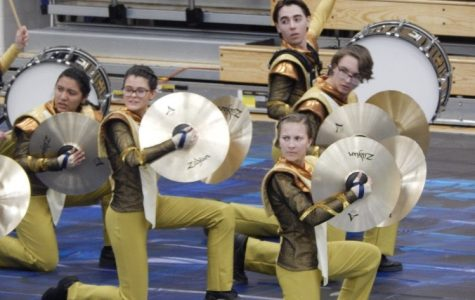 Indoor percussion performs earlier this year. Their world championship competition in Ohio was canceled due to the COVID-19 pandemic.