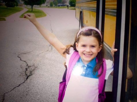 Kassidy Martinez, at age 6, is shown on her last day of kindergarten.