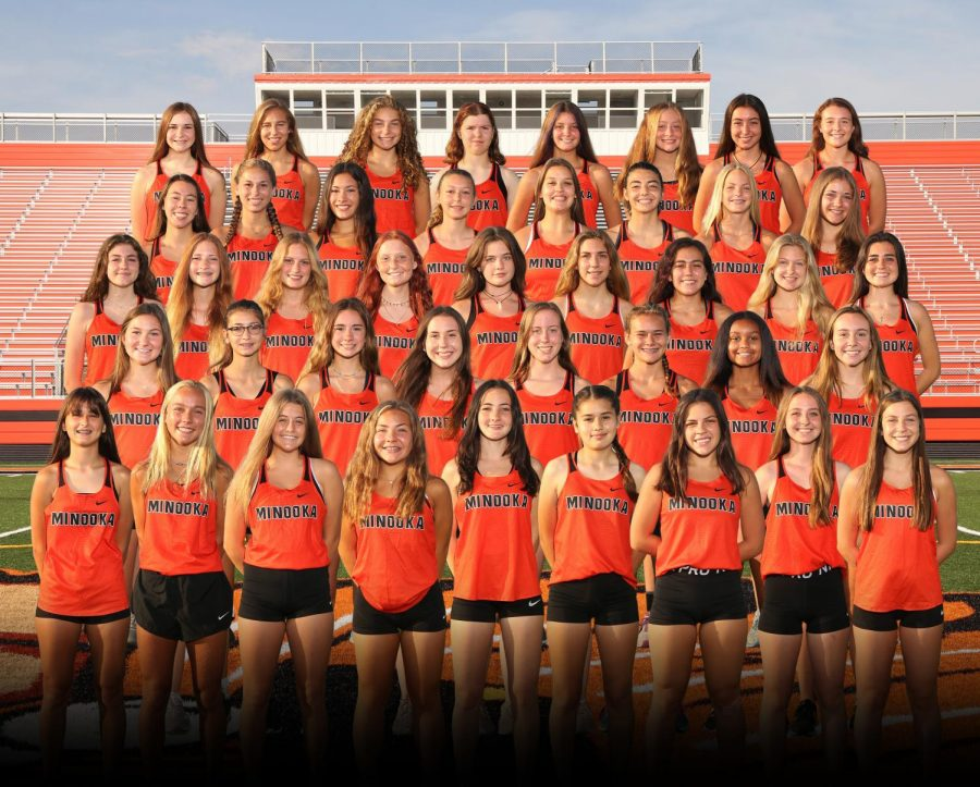 The+varsity+girls+cross+country+team+faces+West+Aurora+at+home+on+Sept.+19.+Minooka+is+currently+2-2.+