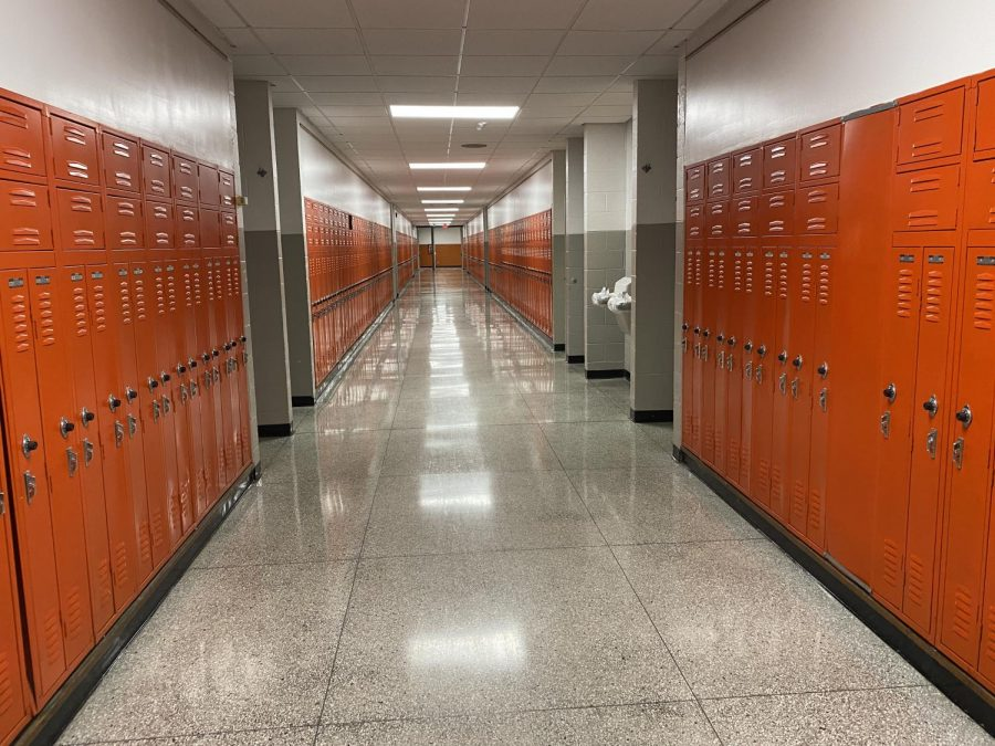 The hallways at Cental Campus are currently empty of students. Teachers teach inside their classrooms while students learn remotely at home.  This could change on Sept. 14, as the Board of Education has plans for hybrid learning to start.