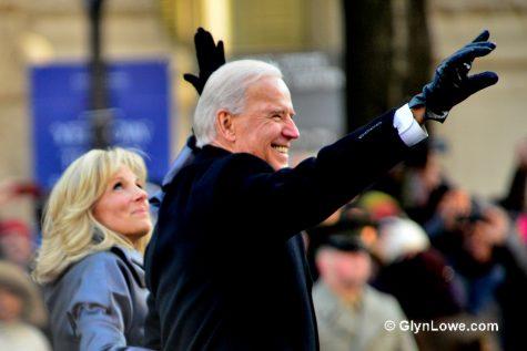 Jill and Joe Biden are seen at the 2013 Presidential Inauguration of Barack Obama.