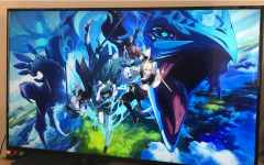 Genshin Impact's opening screen artwork is seen on the PS4 when loading up the game.