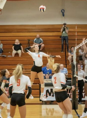 Senior Heidi Bonde has been described as a leader and role model for the girls volleyball team.