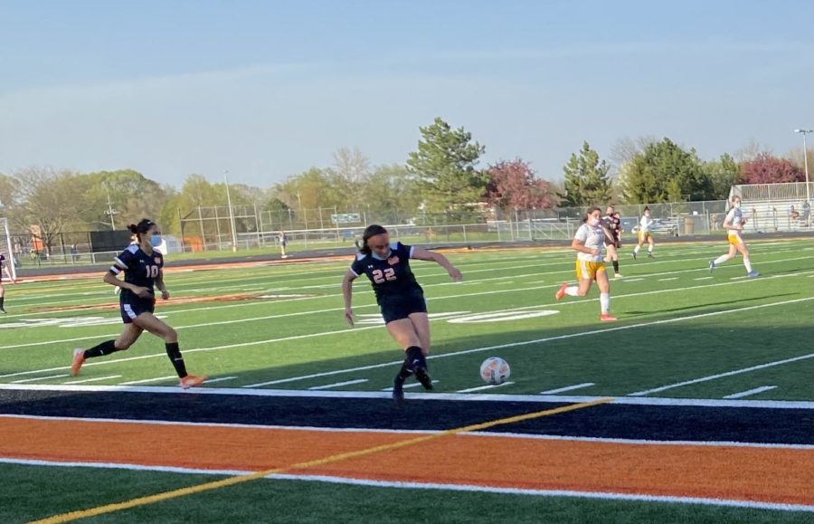 Minooka girls soccer has just started the 2021 season.  They faced Joliet West at home on April 26.