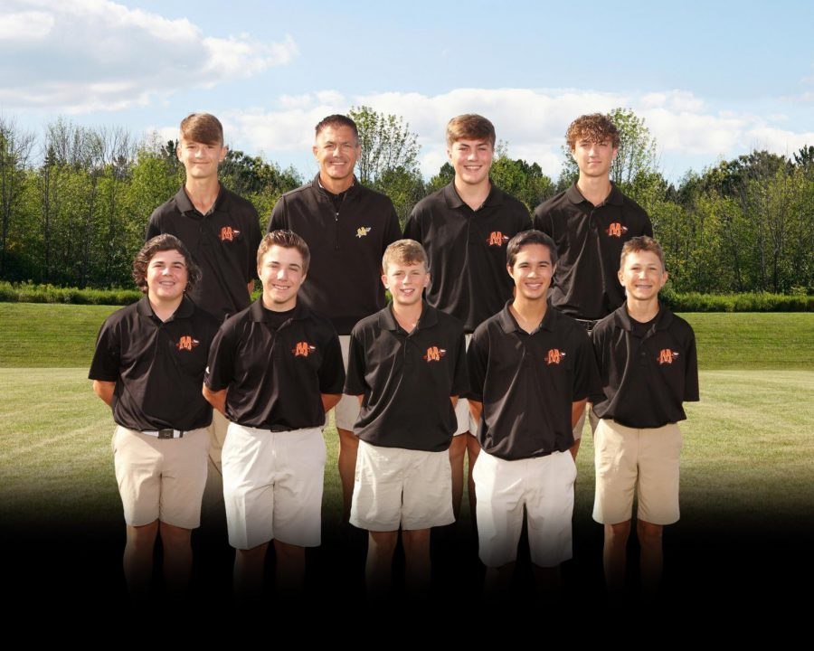 The+boys+golf+team+plays+in+the+regional+on+Sept.+29+in+Normal.+