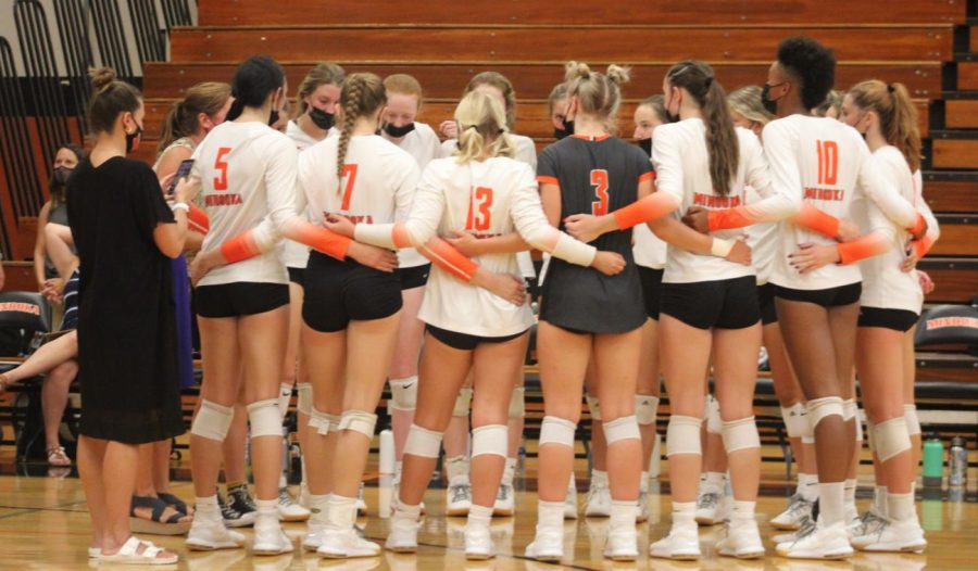 The girls volleyball team lost to Plainfield North on Sept. 9.