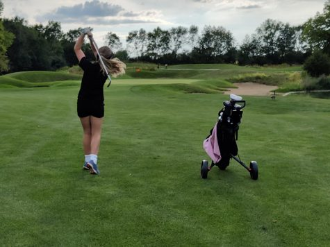 The Minooka girls golf team picked up a win over Romeoville at Heritage Bluffs on Sept. 14.